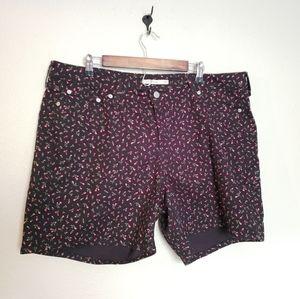 Levi's Vintage Mid Length Floral Shorts Size 20W